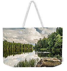 Weekender Tote Bag featuring the photograph Reflection Lake In New York by Debbie Green
