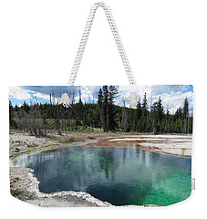 Weekender Tote Bag featuring the photograph Reflection by Laurel Powell