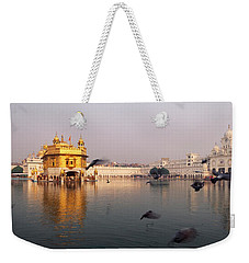 Reflection Of A Temple In A Lake Weekender Tote Bag