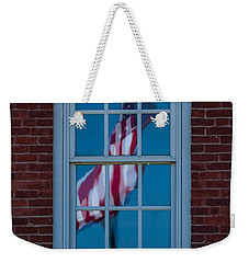 Weekender Tote Bag featuring the photograph Reflection Of Freedom by Patrick Shupert