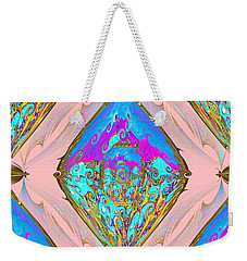 Reflection. Gold Blue And Magenta Colors. Art Weekender Tote Bag by Oksana Semenchenko