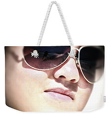 Weekender Tote Bag featuring the photograph Reflection by Pennie  McCracken