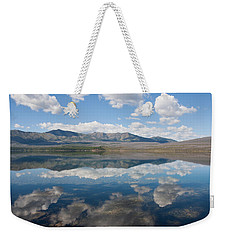 Weekender Tote Bag featuring the photograph Reflections At Glacier National Park by John M Bailey