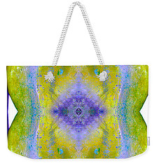 Weekender Tote Bag featuring the photograph Reflections In Ice by Nina Silver