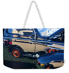 Weekender Tote Bag featuring the photograph Reflections by Joe Kozlowski