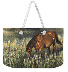 Weekender Tote Bag featuring the painting Reflections by Kim Lockman