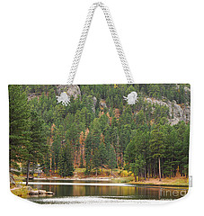 Weekender Tote Bag featuring the photograph Reflections by Mary Carol Story