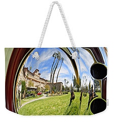 Weekender Tote Bag featuring the pyrography Reflections Of A 1937 Cord by Shoal Hollingsworth