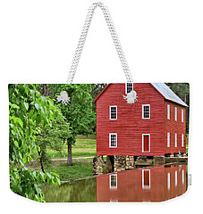 Reflections Of A Retired Grist Mill - Square Weekender Tote Bag