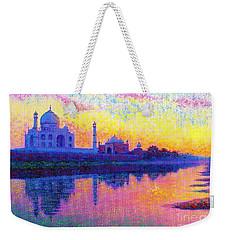 Taj Mahal, Reflections Of India Weekender Tote Bag