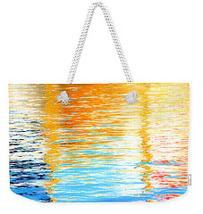 Reflections Of The Setting Sun Weekender Tote Bag by Roselynne Broussard