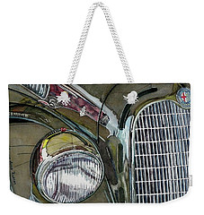 Weekender Tote Bag featuring the painting Reflections On 1931 Alfa Romeo Milano by Anna Ruzsan