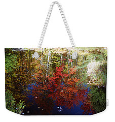 Weekender Tote Bag featuring the photograph Reflections On Algonquin by David Porteus