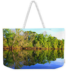 Reflections On The River Weekender Tote Bag by Debra Forand