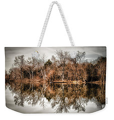 Reflective Morning Weekender Tote Bag by James Barber