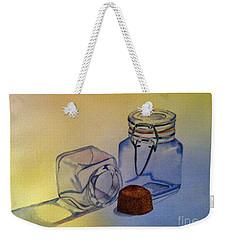 Reflective Still Life Jars Weekender Tote Bag by Brenda Brown