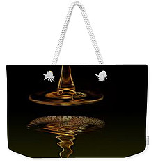 Weekender Tote Bag featuring the painting Reflex by Dragica  Micki Fortuna