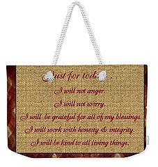 Reiki Principles Weekender Tote Bag by Bobbee Rickard