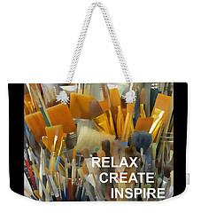 Relax Create Inspire Weekender Tote Bag