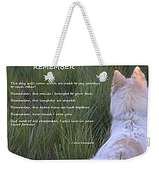 Remember Weekender Tote Bag by Fiona Kennard