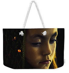 Weekender Tote Bag featuring the photograph Remembering by John Rivera