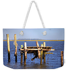 Weekender Tote Bag featuring the photograph Remnants by Gordon Elwell