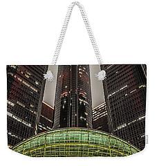 Renaissance Center Detroit Michigan Weekender Tote Bag by Nicholas  Grunas