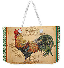 Renaissance Rooster-a-green Weekender Tote Bag