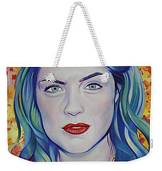 Weekender Tote Bag featuring the painting Rene Taylor by Joshua Morton