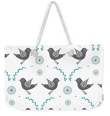 Repeat Lovebird Weekender Tote Bag by Susan Claire