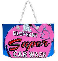 Elephant Super Car Wash Sign Seattle Washington Weekender Tote Bag