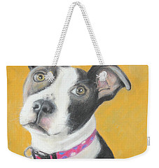 Rescued Pit Bull Weekender Tote Bag by Jeanne Fischer