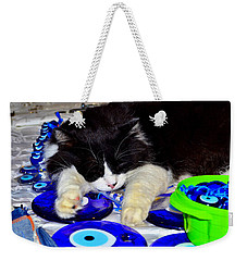 Weekender Tote Bag featuring the photograph Resting At Work by Zafer Gurel