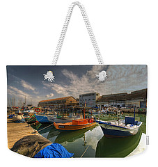 resting boats at the Jaffa port Weekender Tote Bag