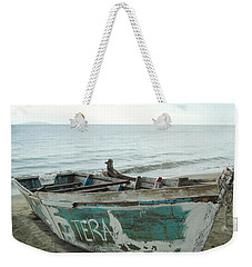Weekender Tote Bag featuring the photograph Resting Fishing Boat by Jocelyn Friis