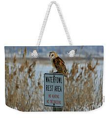 Resting Owl Weekender Tote Bag
