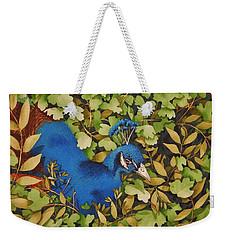 Resting Peacock Weekender Tote Bag