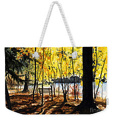 Resting Place Weekender Tote Bag by Barbara Jewell
