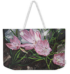 Resurrection Lilies Weekender Tote Bag by Jane Autry