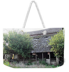 Weekender Tote Bag featuring the photograph Retired Barn by Bonfire Photography