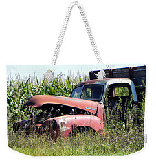 Weekender Tote Bag featuring the photograph Retired by Deb Halloran