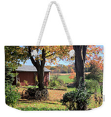 Weekender Tote Bag featuring the photograph Retired Wagon by Gordon Elwell