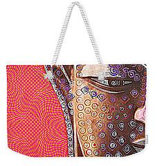 Retro Buddha Weekender Tote Bag