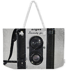 Retro Camera Weekender Tote Bag by Linda Woods