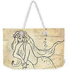Retro Mermaid Weekender Tote Bag by Rosalie Scanlon