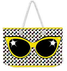 Retro Yellow Cat Sunglasses Weekender Tote Bag