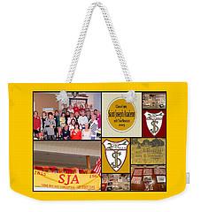 S J A Reunion Collage Grid Weekender Tote Bag