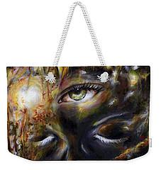 Weekender Tote Bag featuring the painting Revelation by Hiroko Sakai