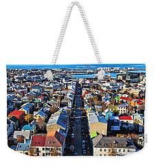 Reykjavik Cityscape Panorama Weekender Tote Bag