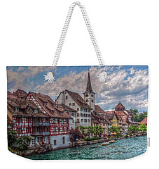 Weekender Tote Bag featuring the photograph Rhine Bank by Hanny Heim